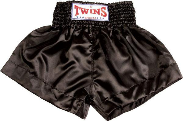 Twins Twins Thai Style Trunks Solid Black